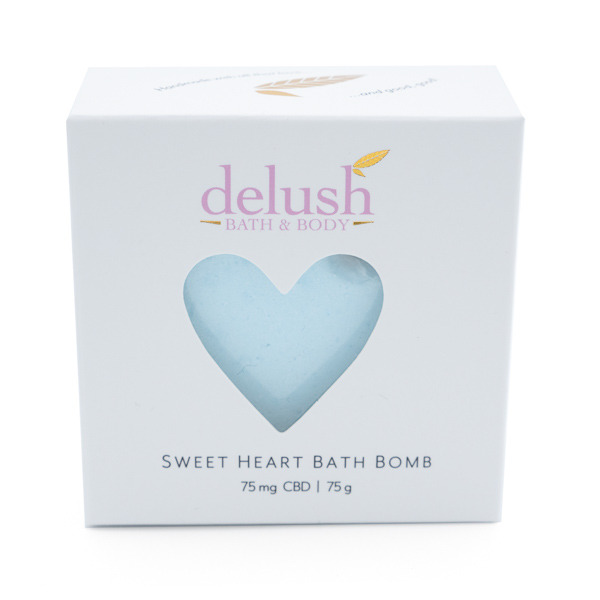 Delush - Sweet Heart Bath Bomb - Blueberry Yum Yum