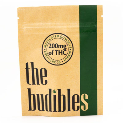 budibles medicated thc green frogs candy