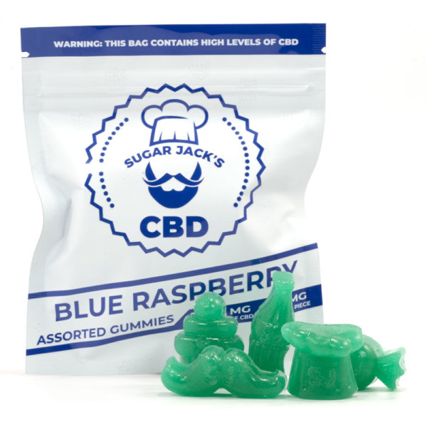 CBD Assorted Blue Raspberry Gummies