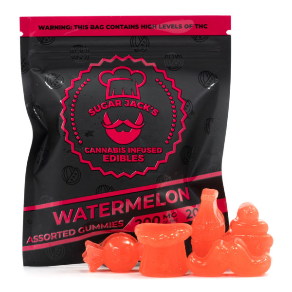 Sugar Jacks Watermelon THC Gummies